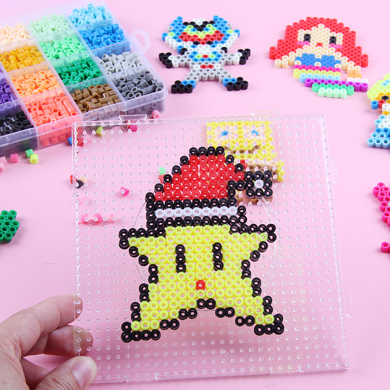 Kids Beads 1000Pcs 5mm Water Spray Beads DIY 3D Stereoscopic Puzzles Beads Toy Magic Beads Water Perlen Puzzle Toys for Children