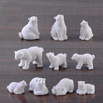 2019 modern lovely mini Polar bear home decor decoration home accessories miniature garden animals Resin figurine easter nordic 1