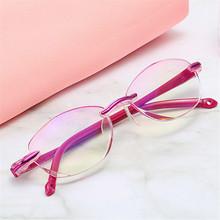Imwete kobiety czytanie okulary bez oprawki niebieskie światło blokowanie okulary do czytania nadwzroczność bezramowe czytnik okulary 1 0 1 5 2 0 tanie tanio Jasne Lustro 3 3cm Z tworzywa sztucznego 5 1cm 200002146 200002146 200002198 200002198 4546 1 0 1 5 2 0 2 5 3 0