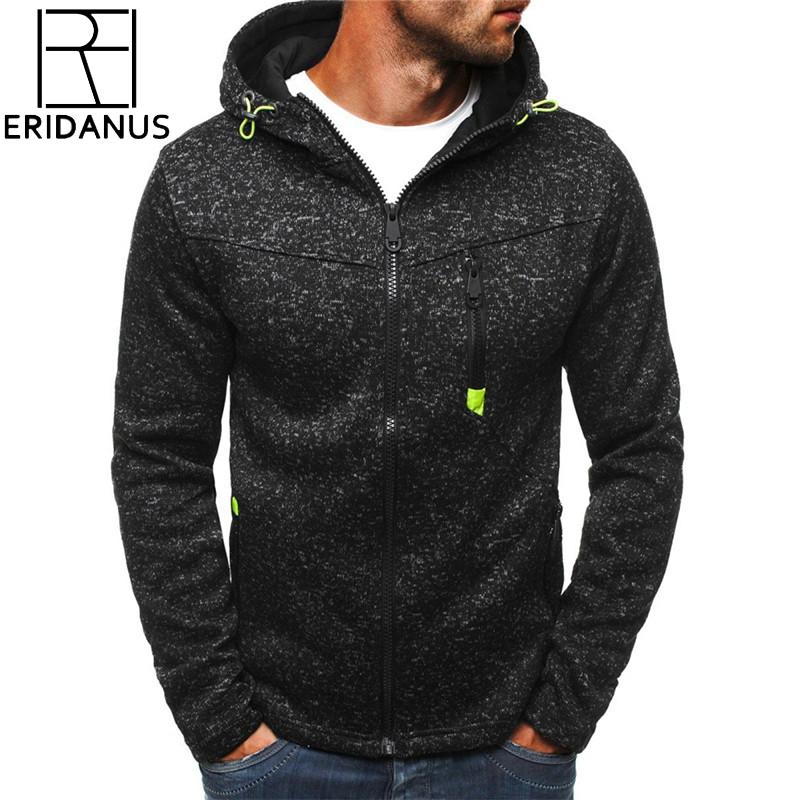 ERIDANUS Brand Jacquard Hoodie Fleece Cardigan Hooded Coat Men's Hoodies Sweatshirts Pullover For Male Hoody Sweatshirt MWW146