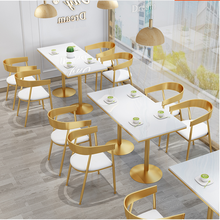 Table and chair combination of tea shop