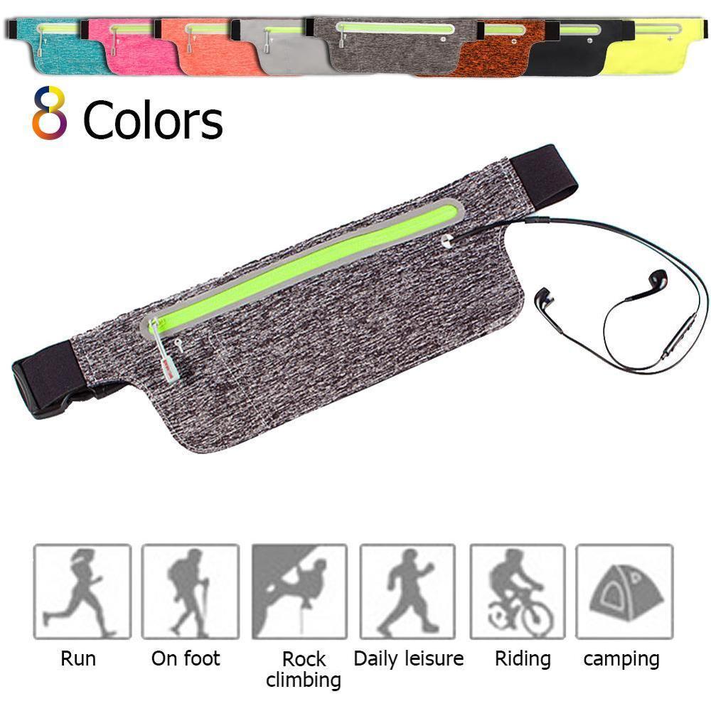New Waterproof Ultra-thin Waist Belt Bag Adjustable Waist Pack For Women Men Sports Running Hiking Fits Phone Money Cards