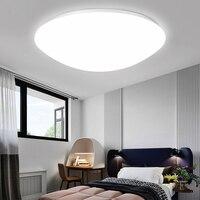 Luces de techo LED modernas  iluminación redonda 12W 18W 24W 36W 72W 220 V  lámpara de techo Led para el hogar  dormitorio  baño  sala de estar|Luces para el techo|   -