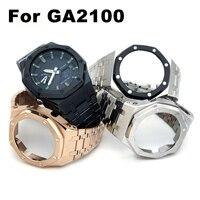 CasiOak GA2100 3th Generation Plus Änderung Metall Uhr Strap Band für Casio G-Schock GA-2100/2110 Ersatz Zubehör