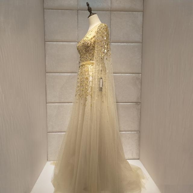 Luxuriöse 2019new eveing kleid vestido de noiva abendkleider robe de soiree kleid party