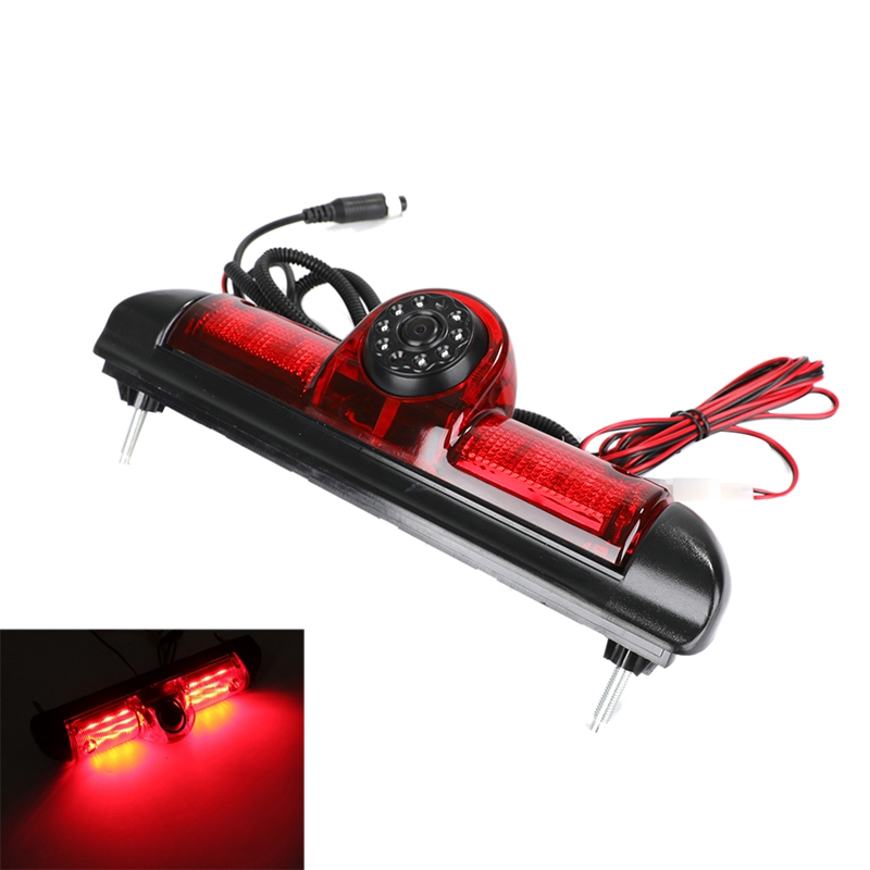 Widok z tyłu samochodu kamera światła hamowania samochodowa kamera cofania 8 led światło podczerwone kamera noktowizyjna dla fiat ducato X250 Citroen Jumpe