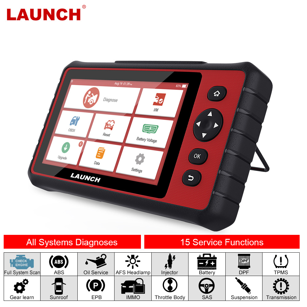 LAUNCH X431 CRP909 OBD2 Scanner ABS SAS DPF EPB Oil TPMS BMS Reset IMMO Key Programming Car Diagnostic Tool Full Systems OBD2