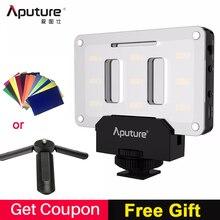 Aputure AL M9 جيب LED الفيديو الضوئي على الكاميرا إضاءة الاستوديو قابلة للشحن إضاءة صور CRI/TLCI 95 لصناعة الأفلام كانون الزفاف