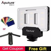 Aputure AL M9 포켓 led 비디오 라이트 카메라 스튜디오 라이트 충전식 사진 라이트 cri/tlci 95 캐논 웨딩 영화 제작에 대한