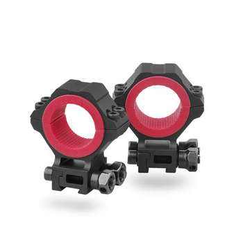 Rifle Scope Rings With Red Gaskets Universal 1inch 25.4 30 34 Mm Tube Dia. Applicable Discovery Proudly Developed