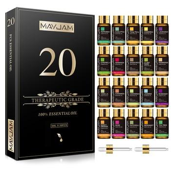 20pcs Gift Box Pure Natural Plant Essential Oils Set for Humidifier Diffuser Lemongrass Mint Eucalyptus Lavender Oil Citronella 1