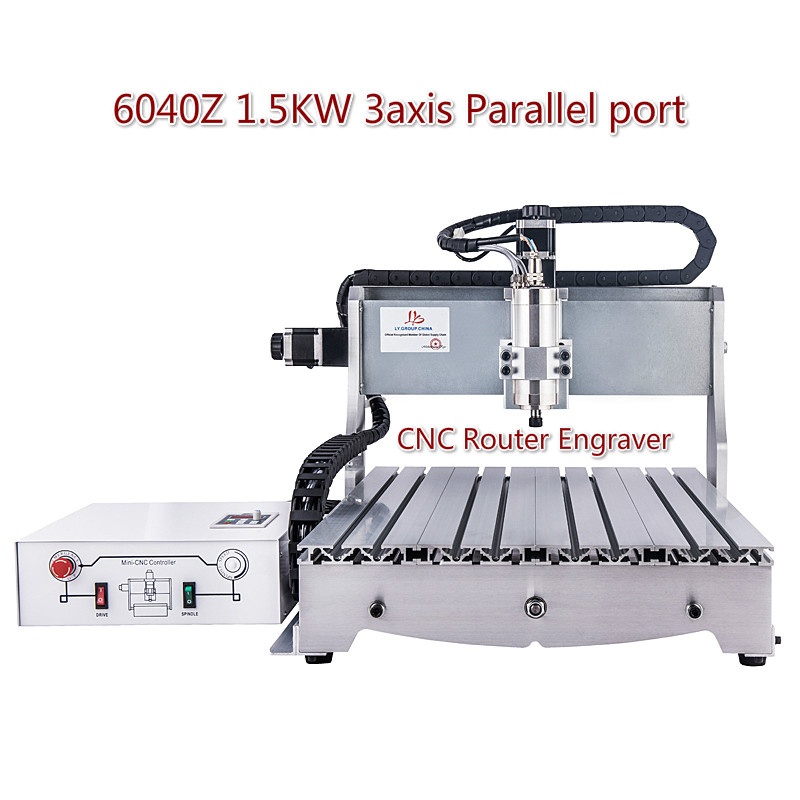 6040Z 1.5KW 3axis LTP Milling Machine CNC Router Engraver Wood Roter With VFD Water Cooling Spindle
