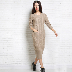 Schwere Kleidung, Ordentlich frauen Kleider in Winter --- Gewebten eine frau Pullover mit Feine Zündung Wolle