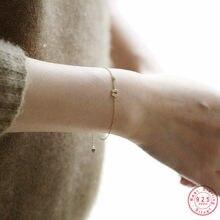 925 srebro prosta litera U 14k złota bransoletka kobiety wykwintne słodkie dziewczyny studenckie biżuteria dar przyjaźni