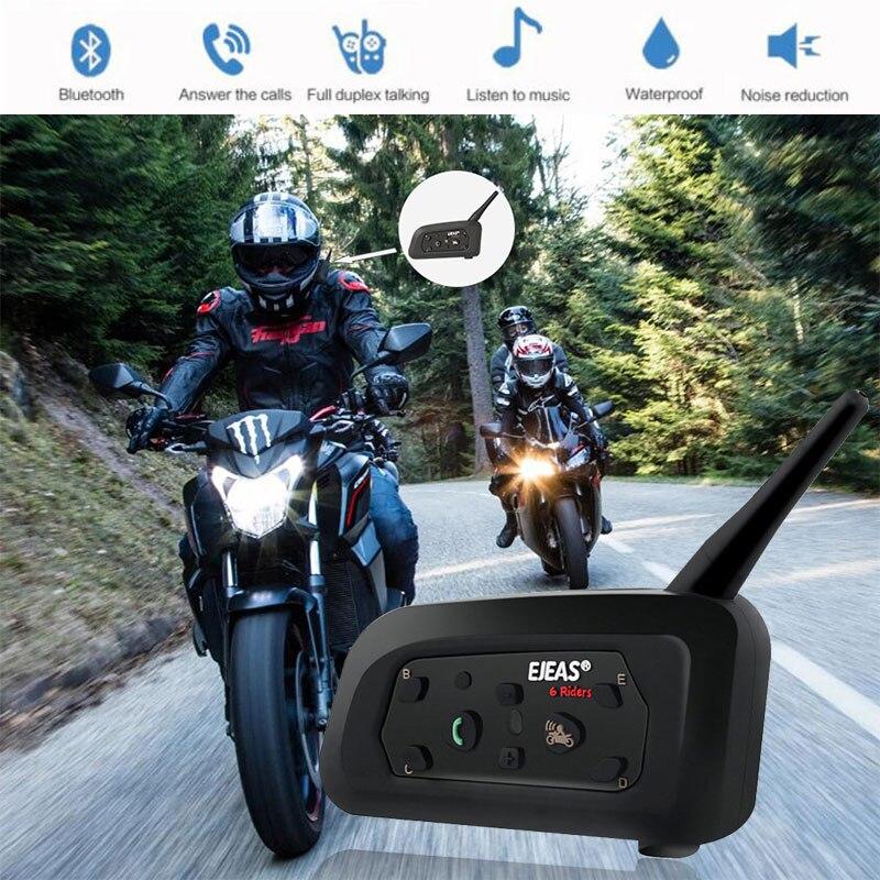 Vehemo Full-Duplex Motorbike Helmet Walkie Talkie GPS Bluetooth Intercom Motorcycle Intercom Motor Ski Outdoor Sports For EJEAS