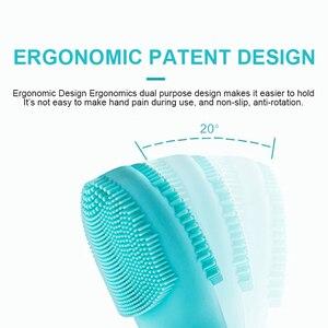 Image 4 - Silikonowe ultradźwięki czyszczenie twarzy elektryczne Sonic masażer twarzy miękka szczotka do mycia wodoodporne usuwanie martwego naskórka narzędzie oczyszczające