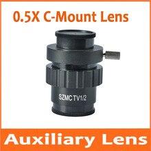 0.5X c-крепление объектива 0,5 раз CTV адаптер SZM видео цифровая камера Тринокулярный Стерео Микроскоп аксессуары 1/2 CTV CCD разъем