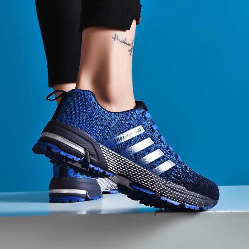 2019 unissex running ao ar livre respirável sapatos mulher leve esportes tênis para homem médio (b, m) sapatos de borracha respirável