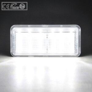 Image 5 - 2pcs LED License Number Plate Light Lamp Clear Light For Toyota Land Cruiser 100 Prado J120 200 Reiz 4D Mark X Lexus LX470 GX470