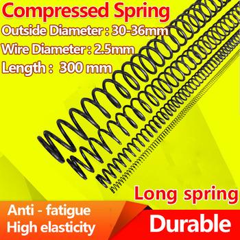Sprężyna dociskowa sprężyna dociskowa typ Y powrót mocna sprężyna stalowa sprężyna średnica drutu 2 5mm długość 300mm średnica 30-36mm tanie i dobre opinie Metalworking CN (pochodzenie) STEEL