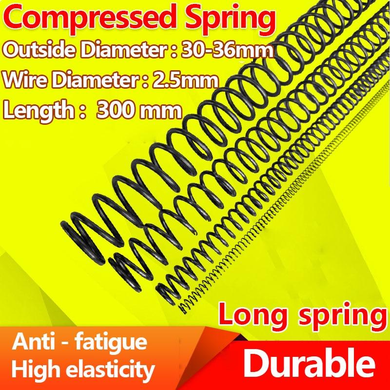 Нажимная пружина прижимная пружина Y типа возврата сильная пружина стальной пружинной проволоки Диаметр 2,5 мм, Длина 300 мм, Диаметр 30 36 мм|Пружины|   | АлиЭкспресс