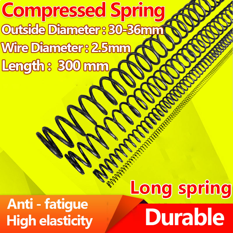 compression spring pressure spring Y type return strong Spring steel spring Wire Diameter 2.5mm, Length 300mm, Diameter 30-36mm