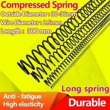 Tipo y da mola de pressão da mola de compressão diâmetro forte 2.5mm do fio da mola de aço do retorno, comprimento 300mm, diâmetro 30-36mm