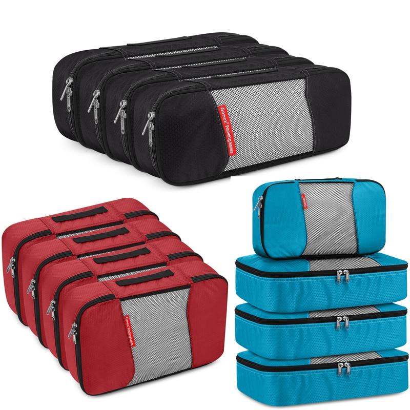 Gonex 4 шт./компл. дорожная сумка для хранения стульчиков 19/24 дюймов чемодан багажа Органайзер Ziplock нейлоновая сетка сумка Одежда Обувь упаково...
