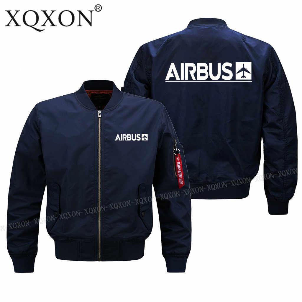 XQXON-2020 novo outono inverno piloto homem jaqueta airbus novo design impresso casacos masculinos S-6XL j713