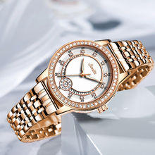 SUNKTA Luxury Crystal Watch Women Waterproof Rose Gold Steel Ladies Wrist Watches Top Brand Bracelet Clock Relogio Feminino+Box