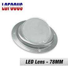 30 45 60 90 120 градусов линза LED оптическое стекло 78 мм+ рефлекторный коллиматор+ фиксированный держатель для 20 Вт 30 Вт 50 Вт 100 Вт чип высокой мощности
