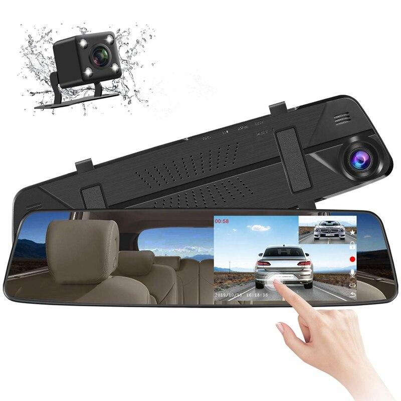 IPS 4,39 Zoll Spiegel Dash Cam, rückspiegel Dash Cam mit Schleife Aufnahme Wasserdichte Rückfahr Kamera G-Sensor