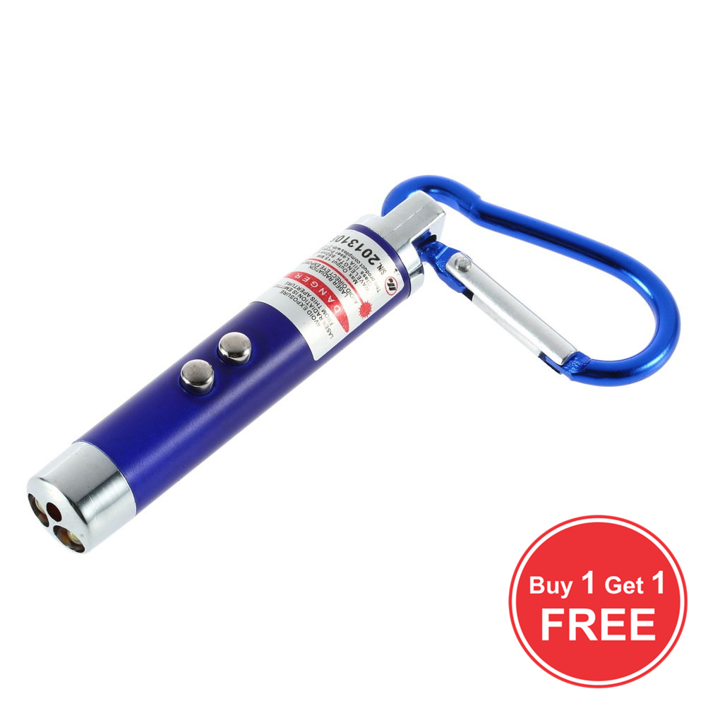 Buy 1 Get 1 For Free LED Laser Pen Pointer Mini Portable FlashLight Torch 5mW Emergency High Power Keychain For Gift