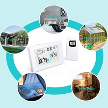 Digoo DG-TH8380 Wireless Thermometer Hygrometer Touch Screen Weather Station With Thermometer Outdoor Forecast Sensor Clock