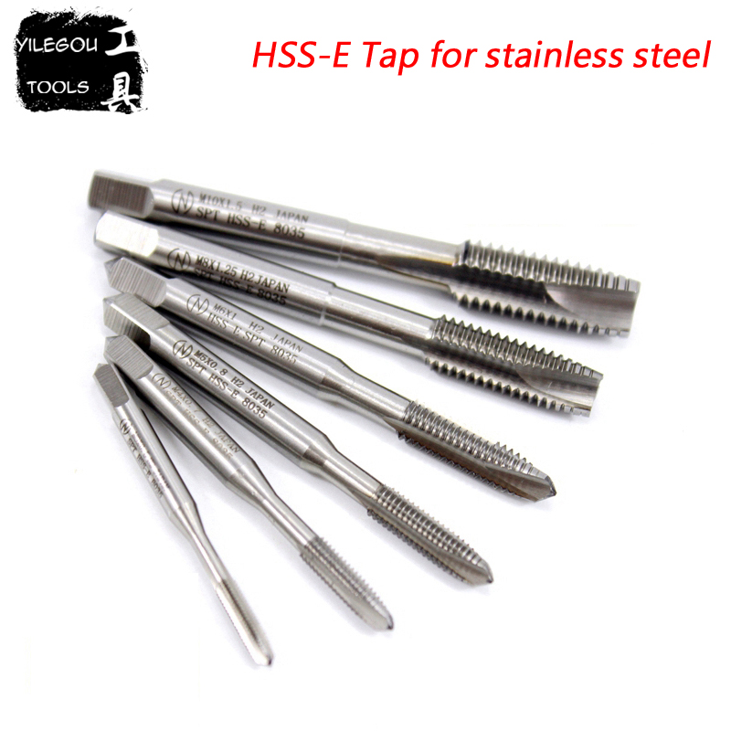 2 Pieces HSSE M3-M18 Tap For Stainless Steel. HSS-E Tapping Drill Bit M8x1.25 SPT Tapping With Cobalt-containing