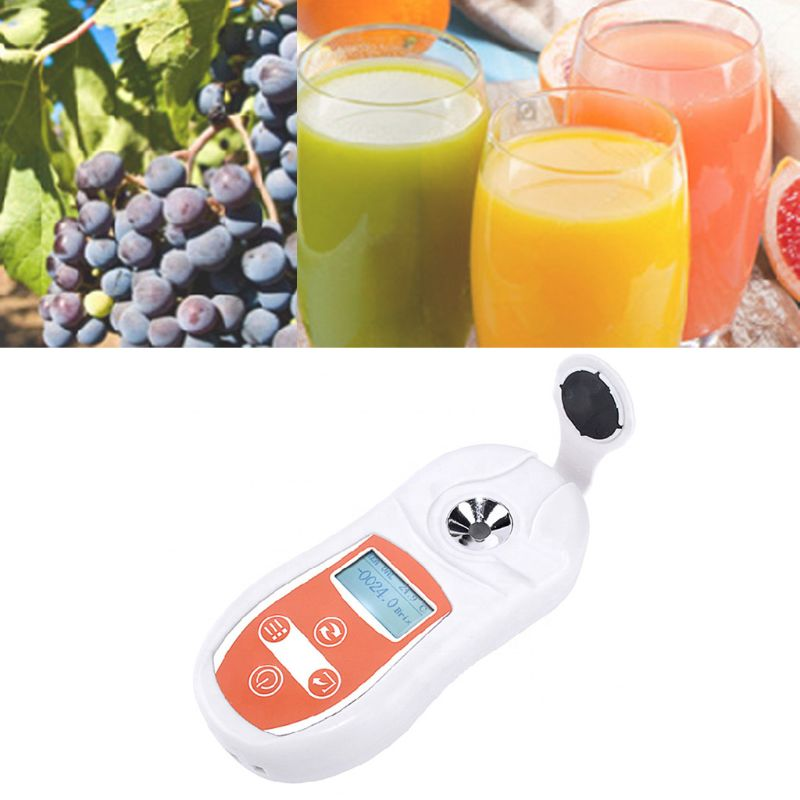 Digital Brix Refractometer Sugar Testing Meter 0-53% Temperature Compensation Sugar Juice Brix Concentration Detector
