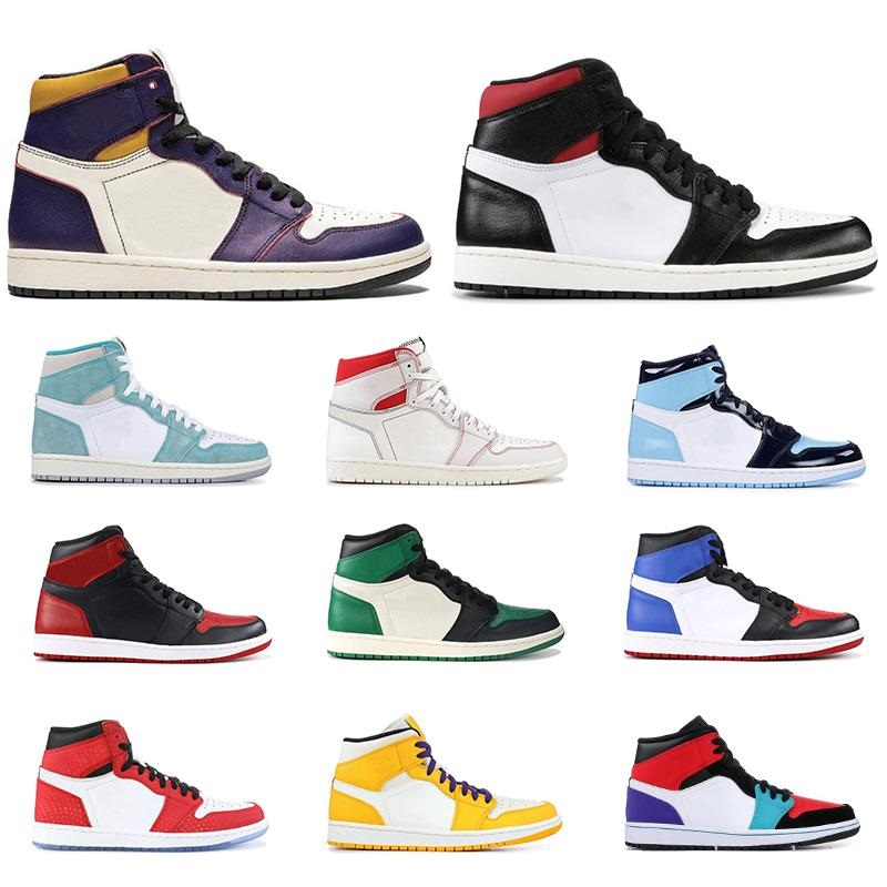 1s basketball shoes high mid top Gym red SPIDERMAN UNC TURBO GREEN Court Purple banned NYC TO PARIS PHANTOM 1 men sport sneakers