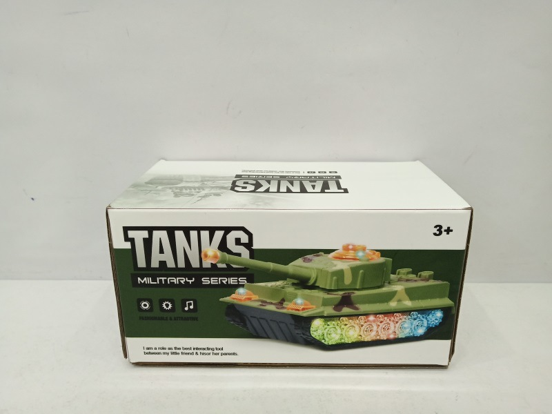 Hot Selling Children Electric Tank Universal Light Toy Boy Model Military Model Car Toy