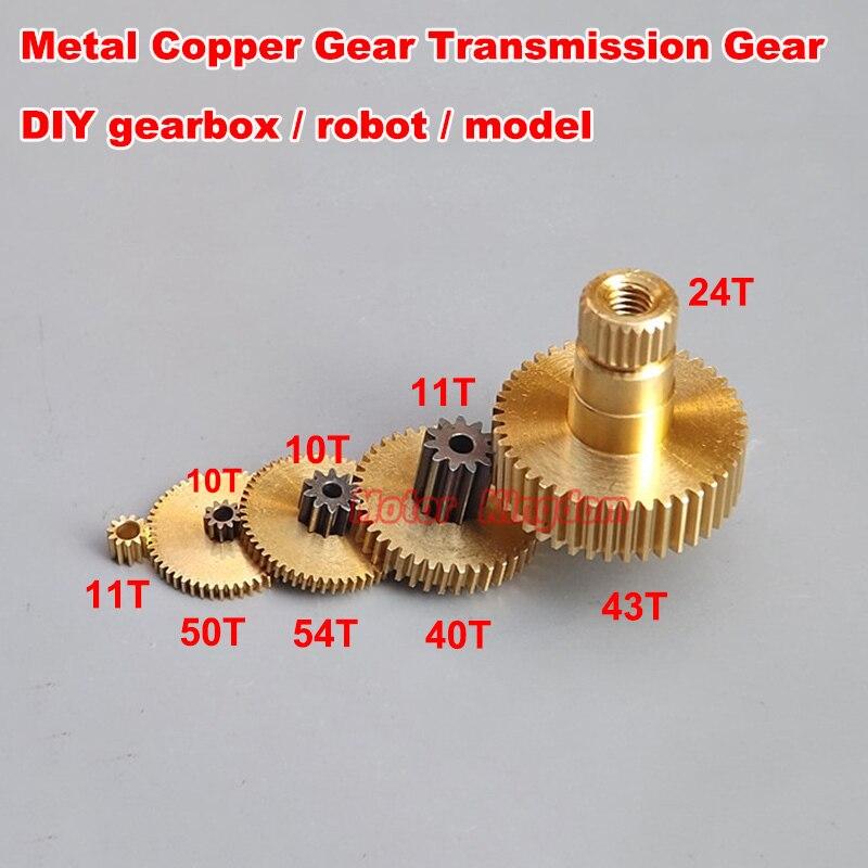 EIN Set von 5 Arten Metall Kupfer Gears Getriebezahnräder 11T 40T 43T 50T 54T 0,2 0,3 0,35 Modulus Mehrere Spezifikationen