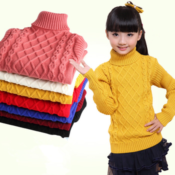 Baby teenage boys Sweater Girls Sweaters turtleneck  winter thicken warm Knitted Kids Clothing Girls Pullover  8 10 12 14 years boys sweaters high quality baby trui baby girls sweater autumn winter baby warm clothes kids sweater