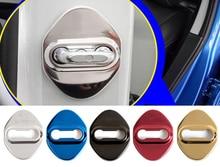 4Pcs / Set Car Door Lock Cover Stainless Steel Interior Accessories For LUXGEN 5 Cutting-edge 3  Excellent 6 U6