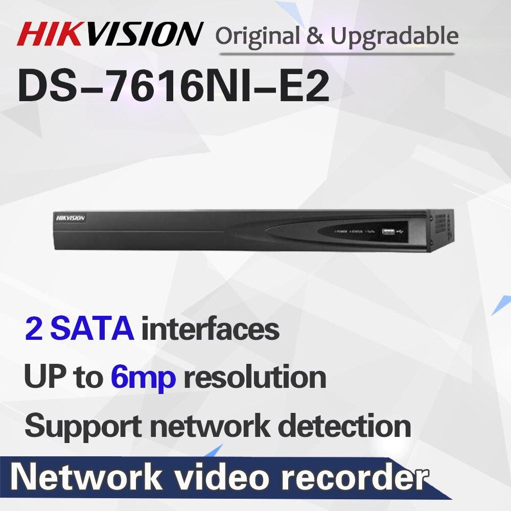 HIKVISION NVR 16CH DS-7616NI-E2 без POE до 6 мегапикселей Запись сетевой видеорегистратор