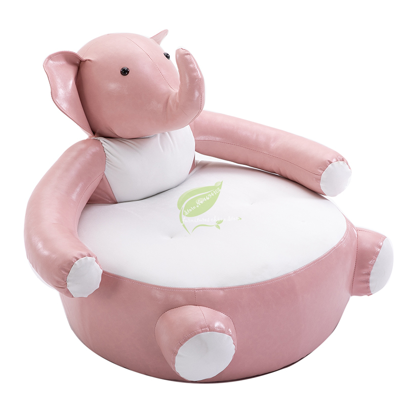 Kids Chair Creative Lazy Sofa Single Small Sofa Tatami Cute Animal Elephant Sofa Kindergarten Chair Child Seat
