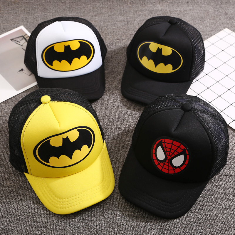 Cap Snapback-Cap Batman Superman Fashion Girls Kids Children Cartoon 6-Colors Gorras