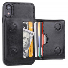 купить Leather Wallet Case for iPhone 11 Pro Max X XS Max XR 6 6s 7 8 Plus 5 5S SE Bag with Credit Card Holder Durable Shockproof Cover дешево
