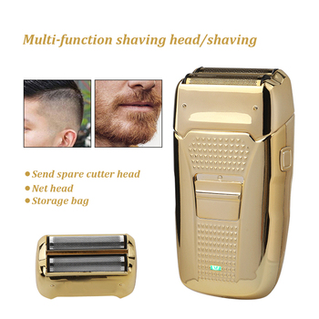 Dual use Electric shaver reciprocating double-head USB charging retro razor bald machine with replacement shaving head so white wireless 3d smart control usb charging electric razor shaver ipx7 usb charging shaving