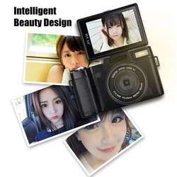 Vlog Digital Camera Full HD 1080P Professional Video Camcorder Vlogging Camera 8.0 MP CMOS Max 24MP