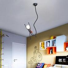 Креативный подвесной Ретро светильник Железный человек e27 для