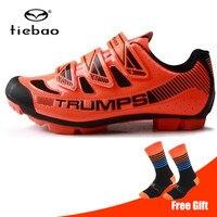 Tiebao サイクリングシューズ男性スニーカー女性 sapatilha ciclismo mtb マウンテンバイク通気性アスレチック自転車靴 Sapatos ciclismo -