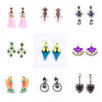 Clearance Sale Statement Drop Earrings Acrylic Candy Color Crystal Collection Summer New For Women Fashion Jewelry Special Price